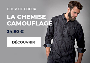 S38 - menu homme chemise camouflage