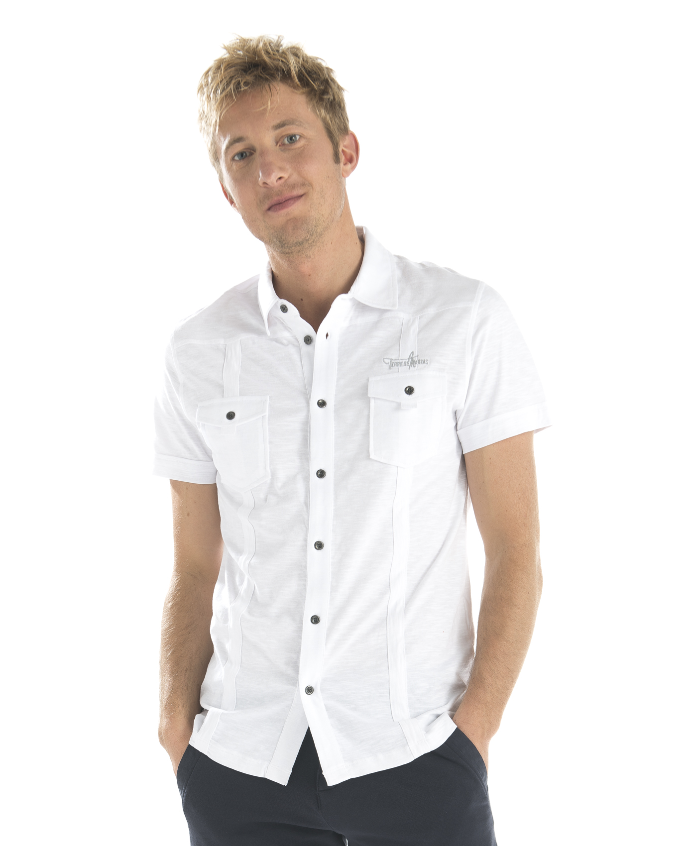 Chemise manches courtes blanche_0