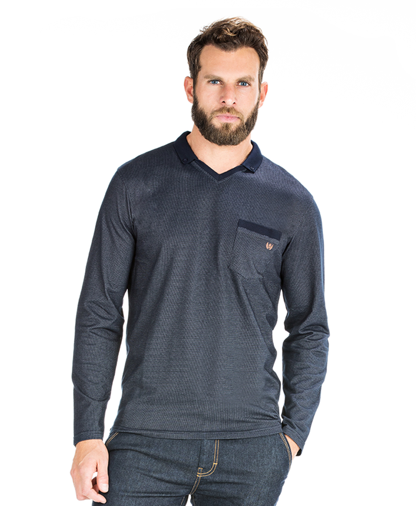 Polo jacquard homme_0