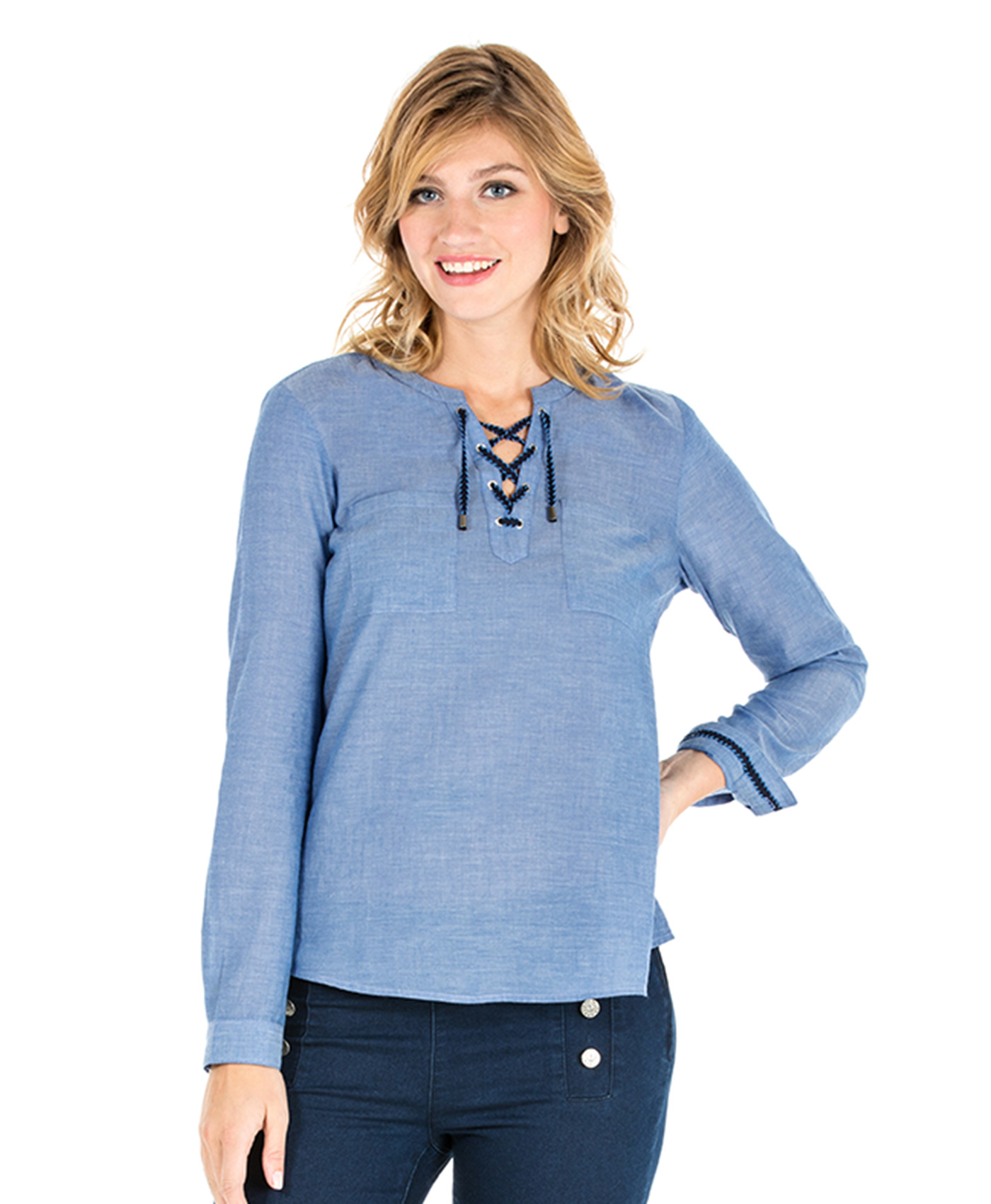 Tunique chambray femme - Mode marine Femme