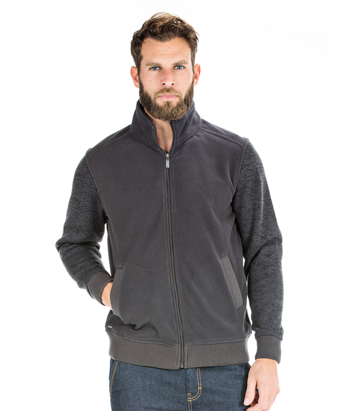 Polaire grise homme - Mode marine Homme
