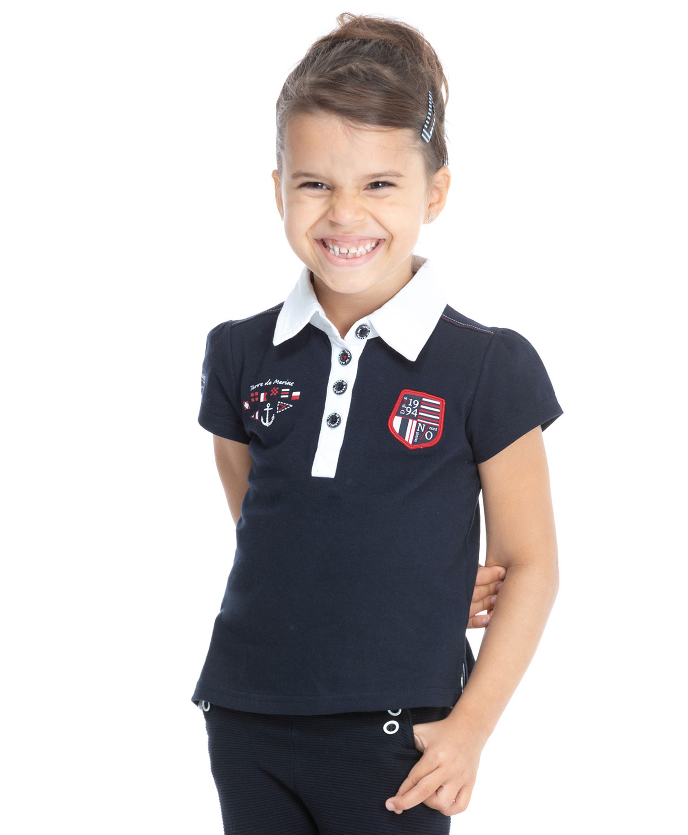 Polo de sport fille - Mode marine Enfant