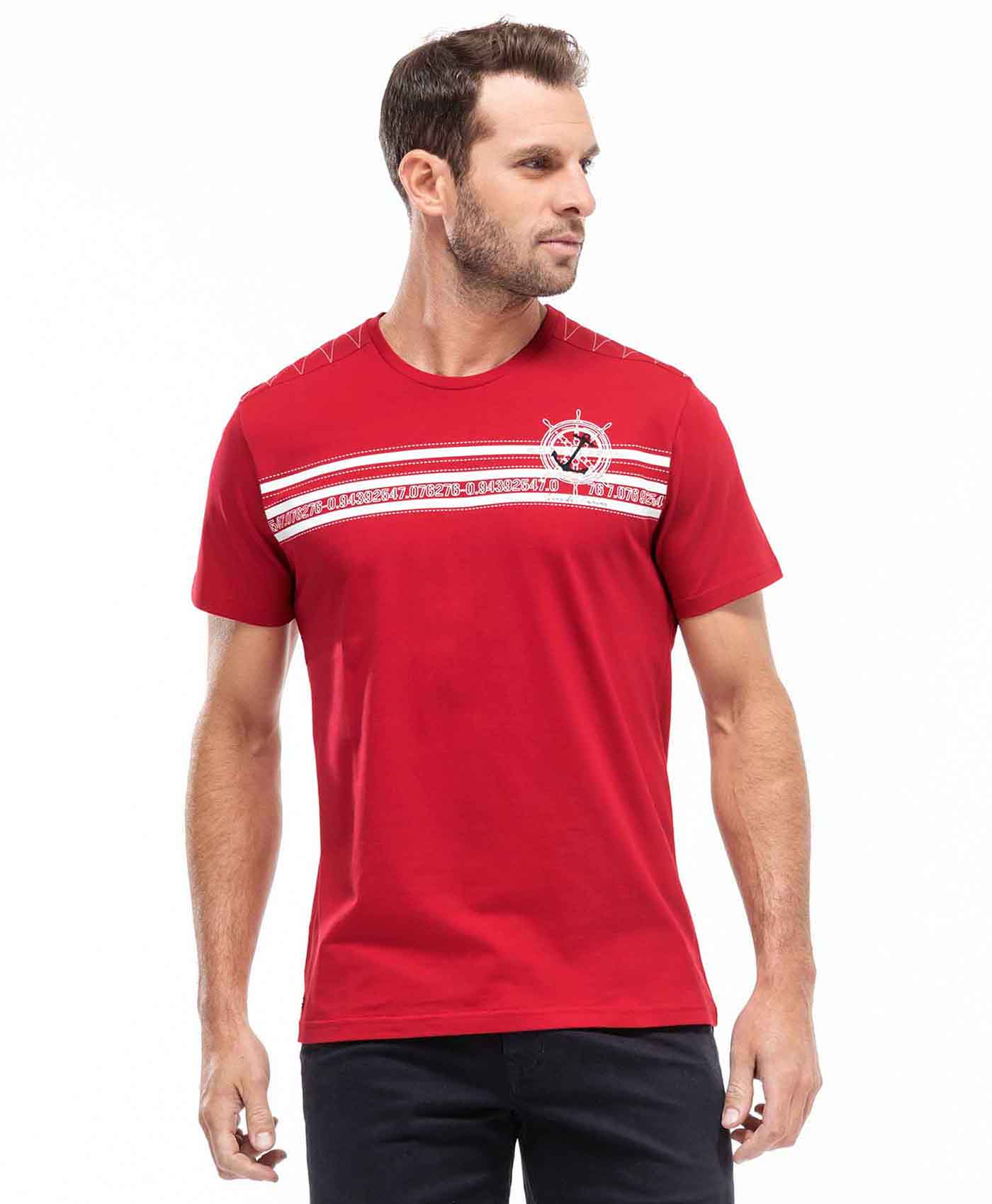 Tee-shirt rouge homme - Mode marine Homme