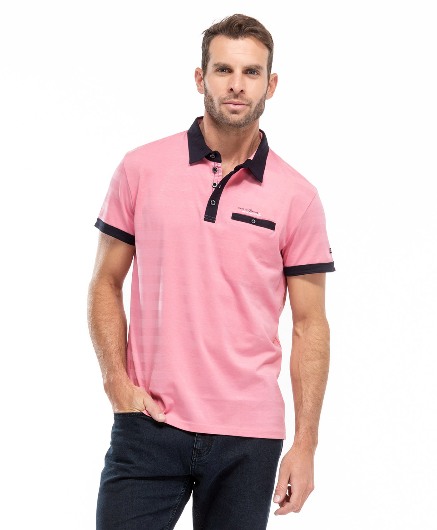 Polo rose homme - Mode marine Homme