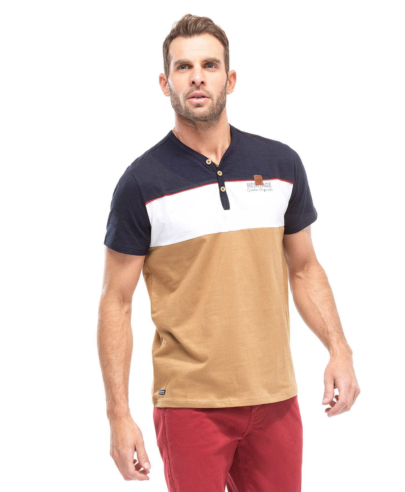 Tee-shirt coton homme - Mode marine Homme