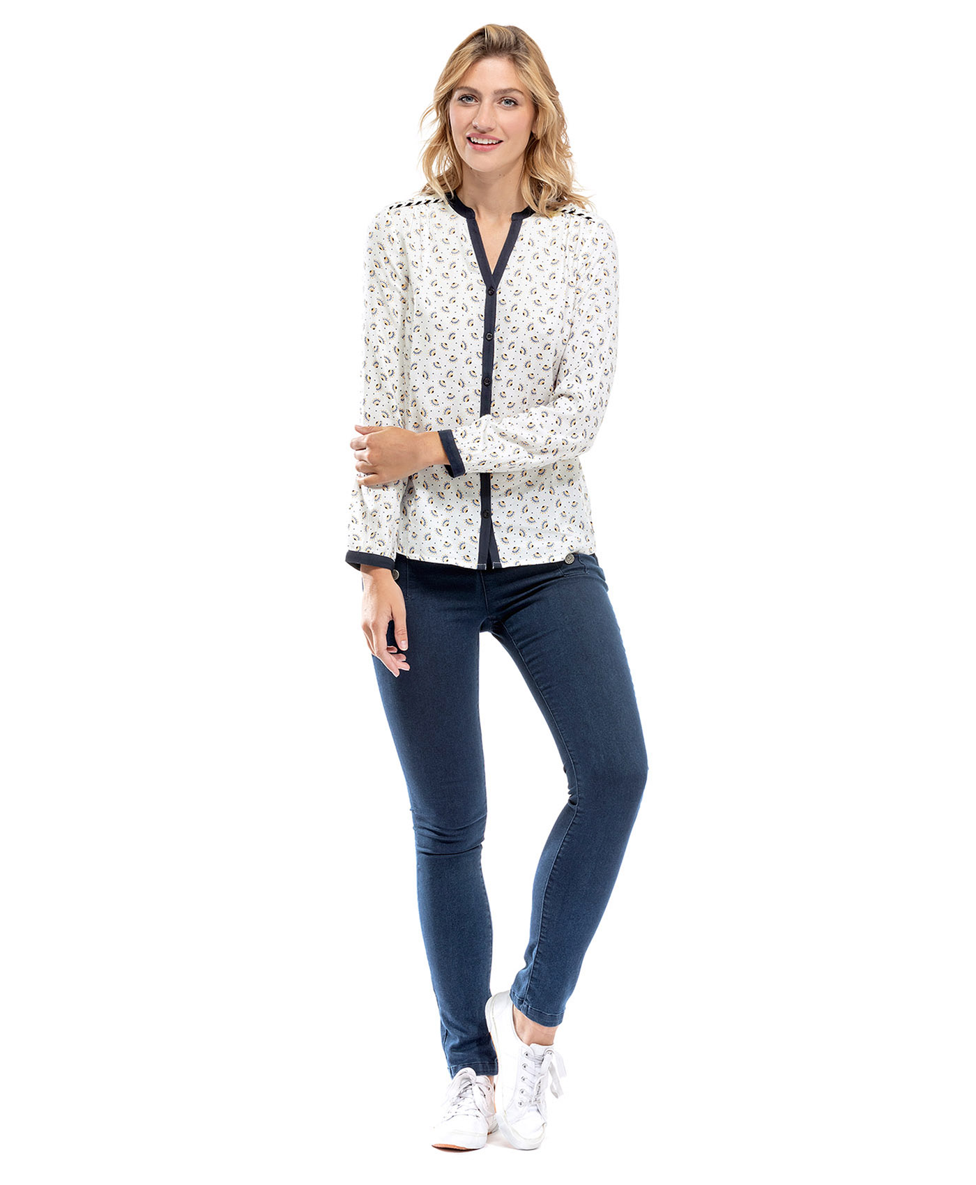 Chemise manches longues blanche - Mode marine Femme