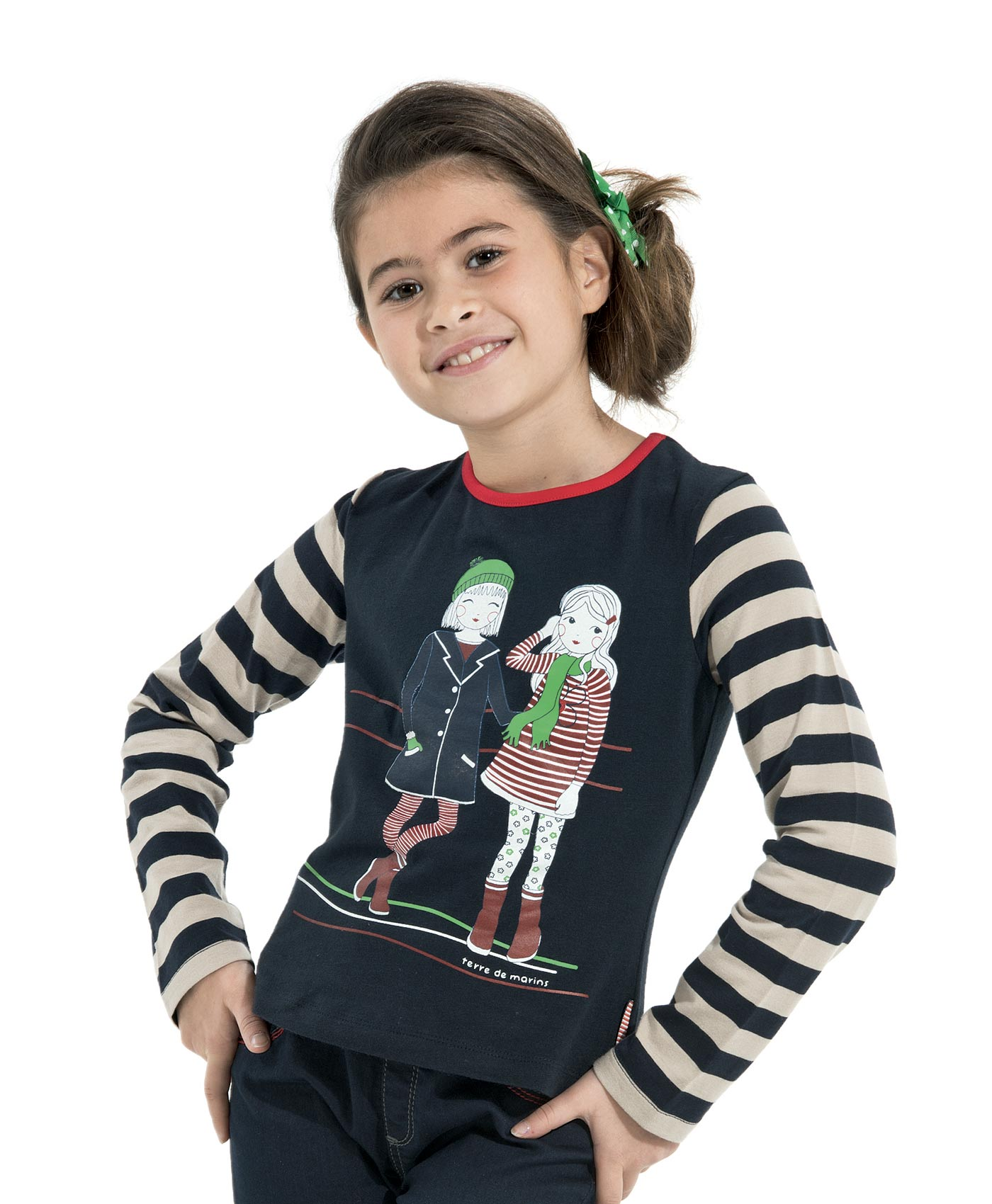 tee shirt manches longues fille marine t shirt polo top mode enfant fille terre de marins. Black Bedroom Furniture Sets. Home Design Ideas