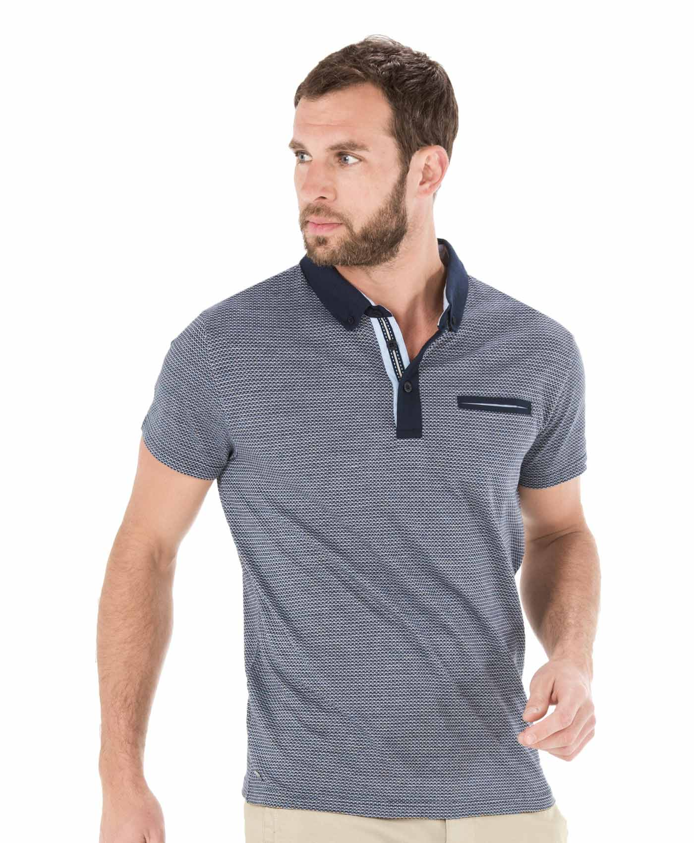 Polo manches courtes homme bleu nuit - Mode marine Homme