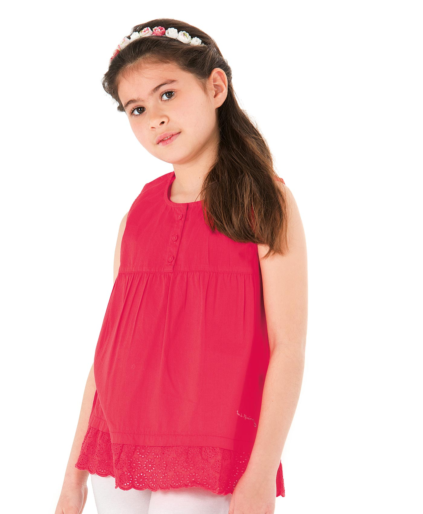 Top fille rose grenadine - Mode marine Enfant fille