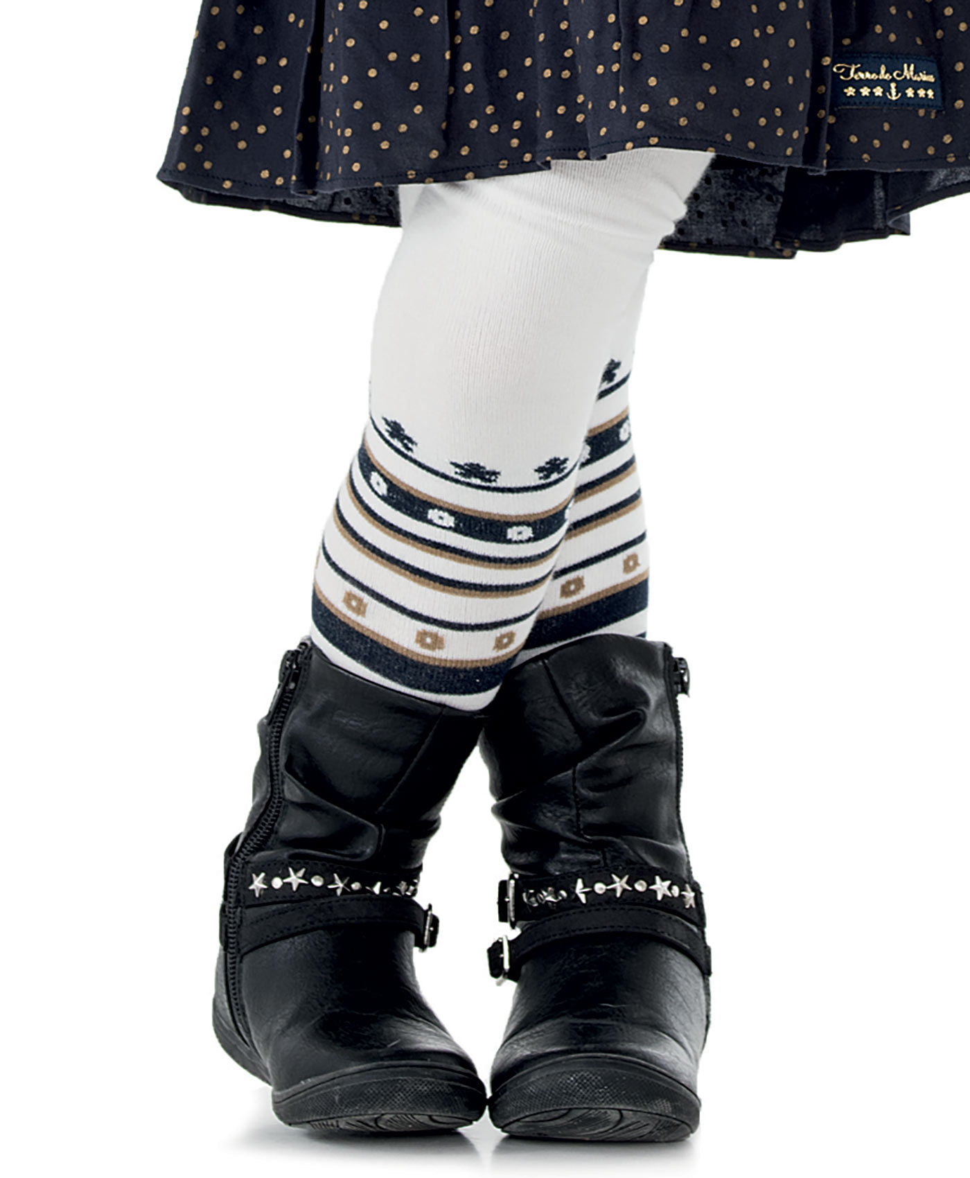 Collants enfant fille blanc craie - Mode marine Enfant fille