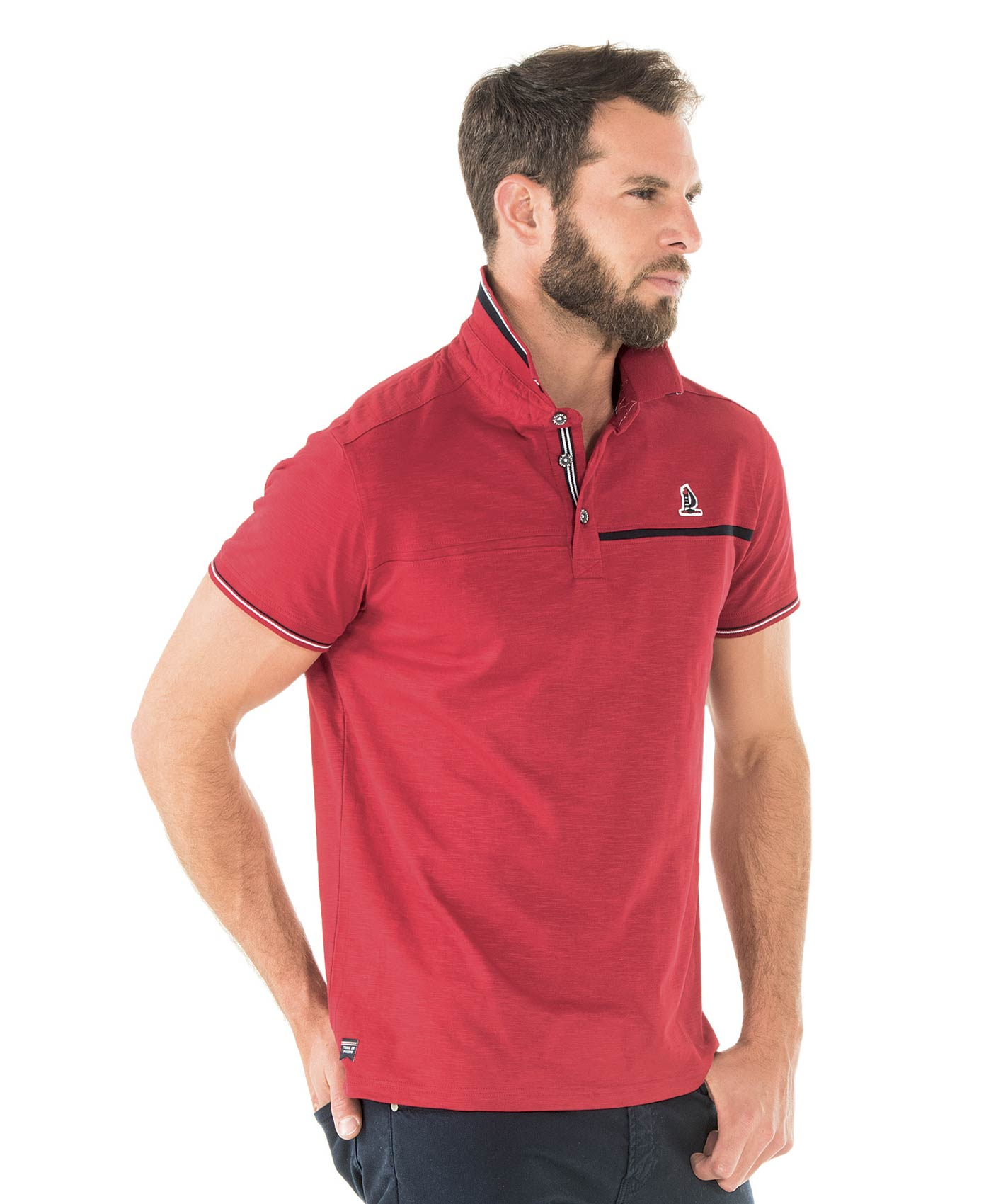 Polo manches courtes homme rouge - Mode marine Homme