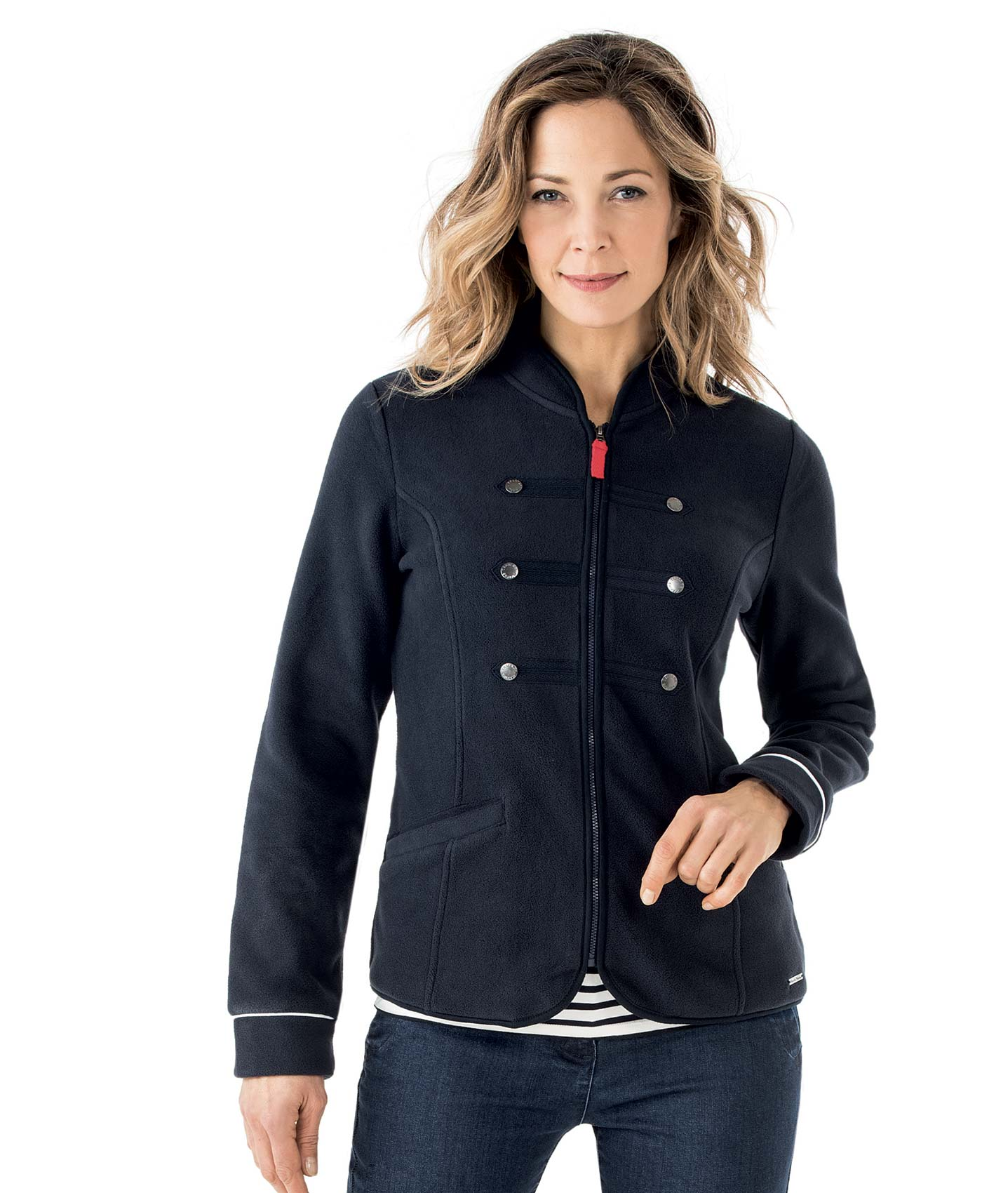 veste polaire femme marine veste parka manteau mode femme terre de marins. Black Bedroom Furniture Sets. Home Design Ideas