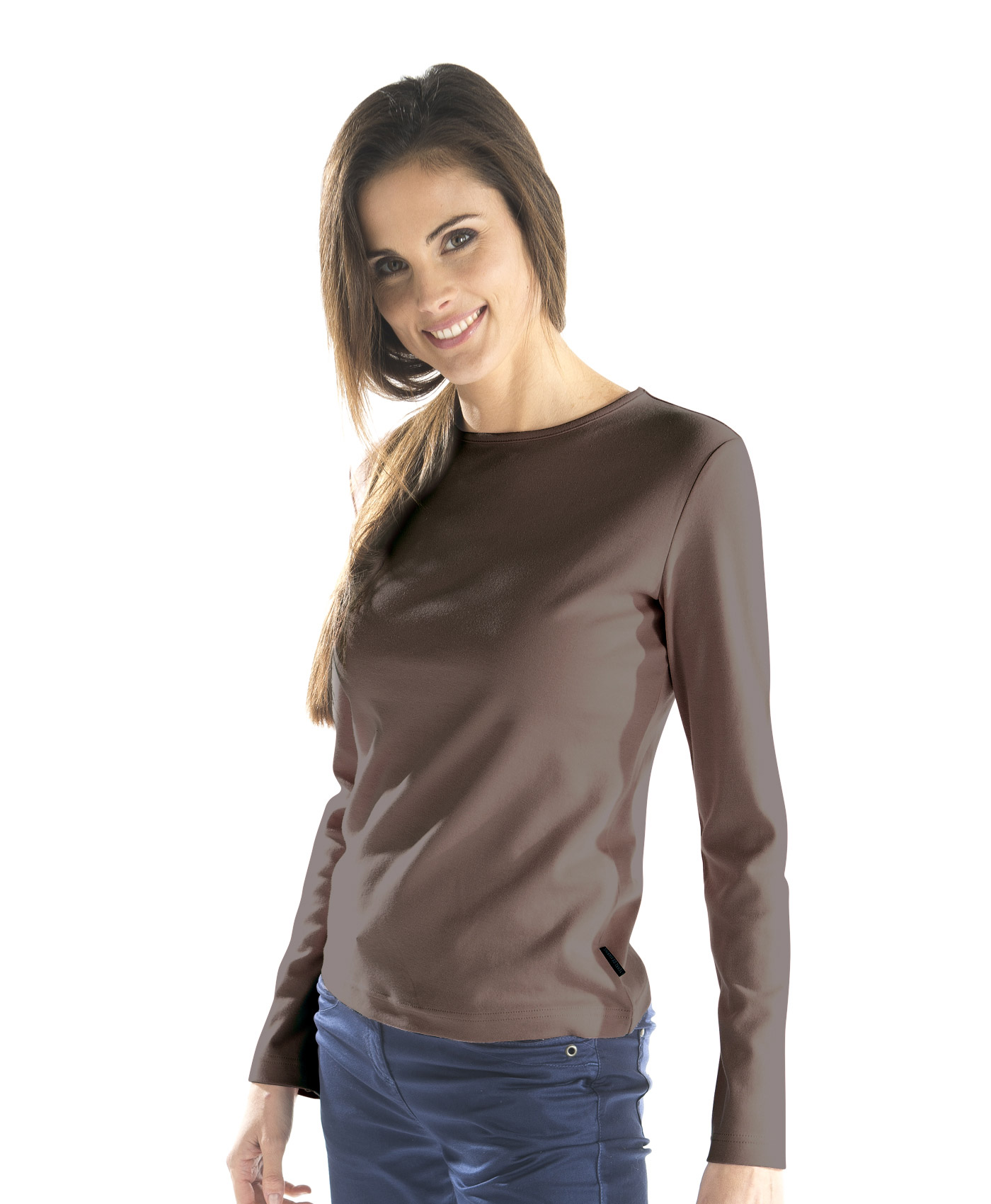 T-shirt basique marron femme - Mode marine Promotions