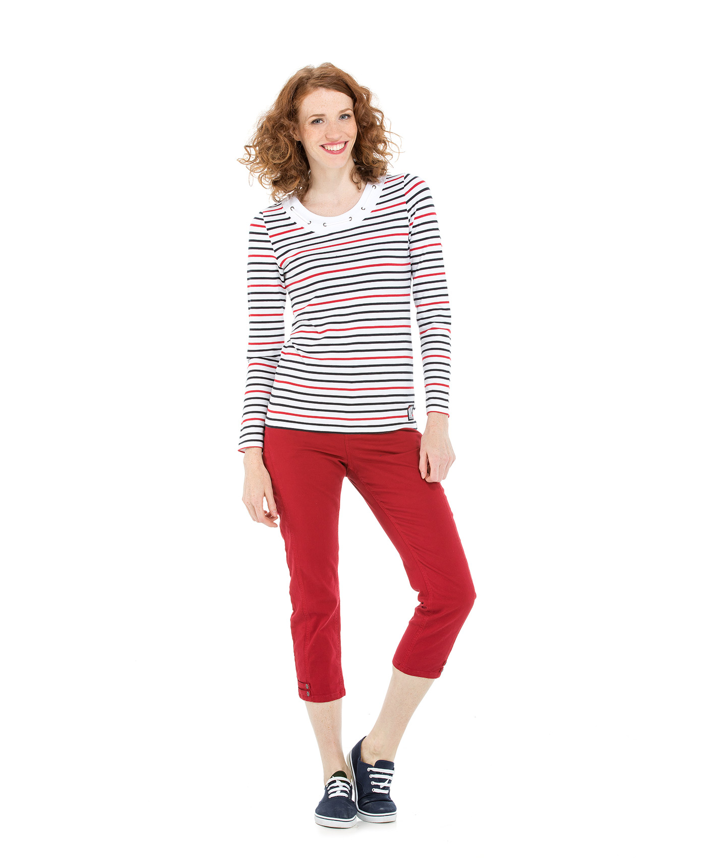 Tee-shirt manches longues femme rayé_1