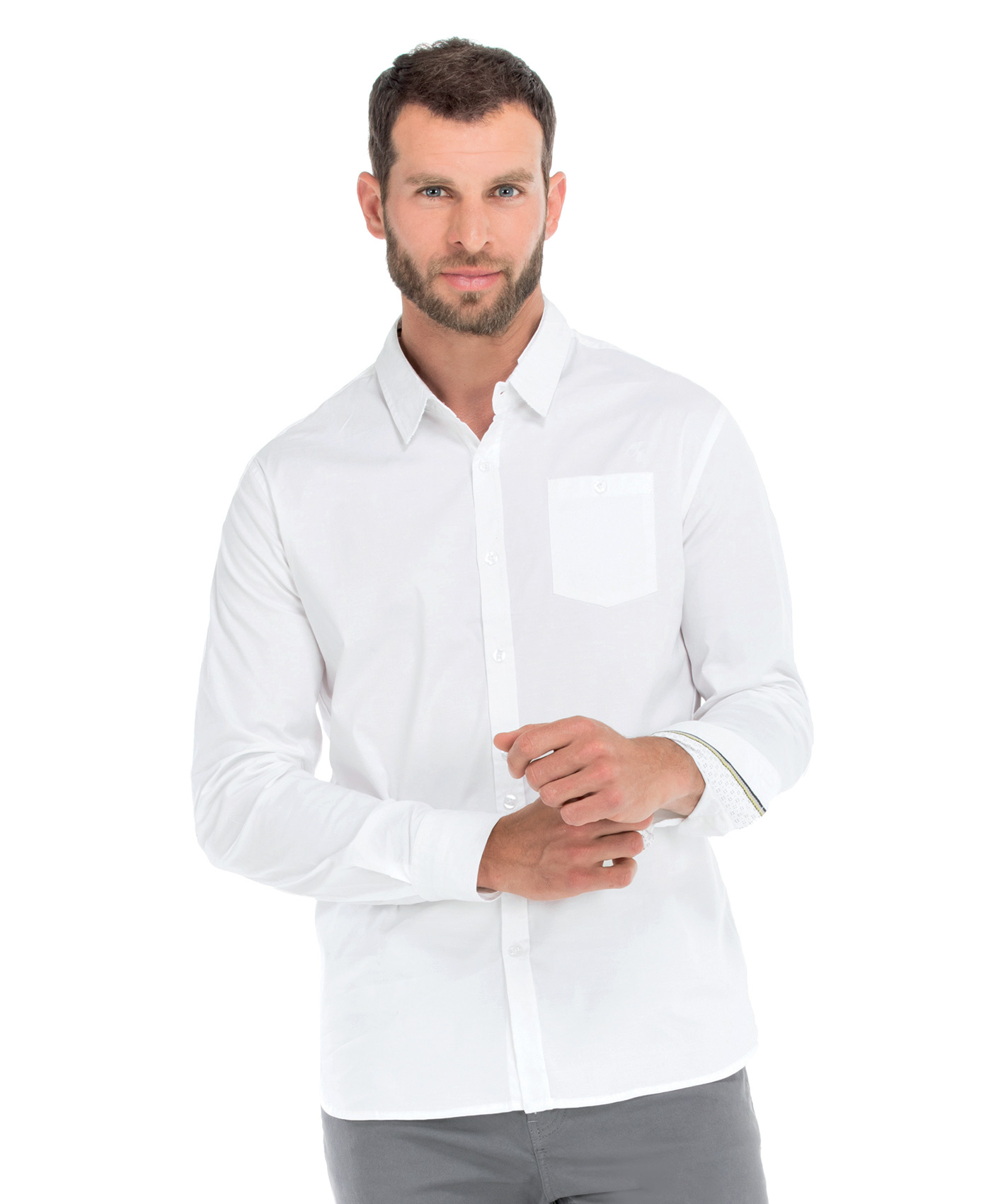 Chemise blanche homme - Mode marine Promotions