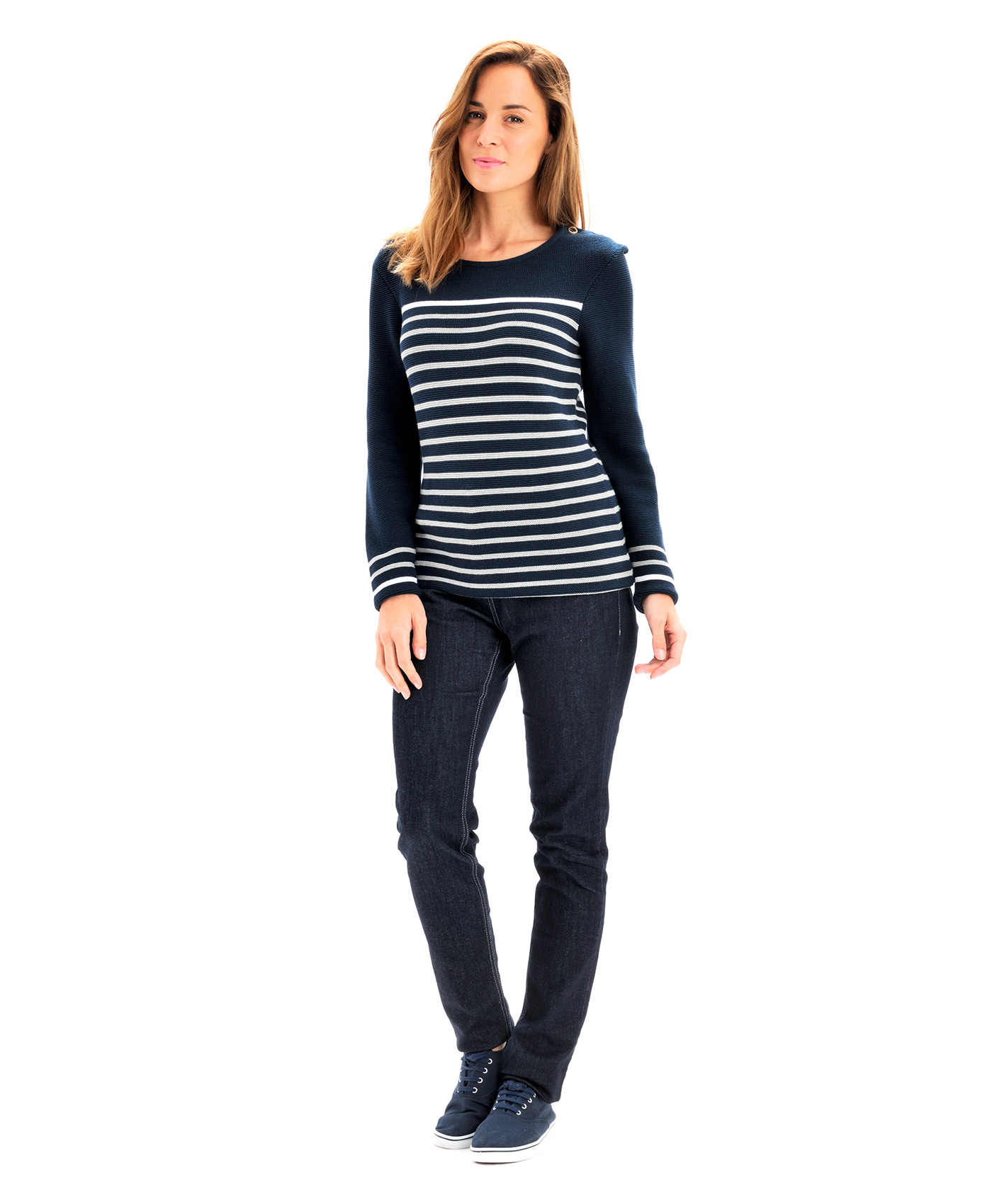 Exceptionnel Pull marinière femme rayé marine - Pull, Cardigan Mode Femme Terre  RM82