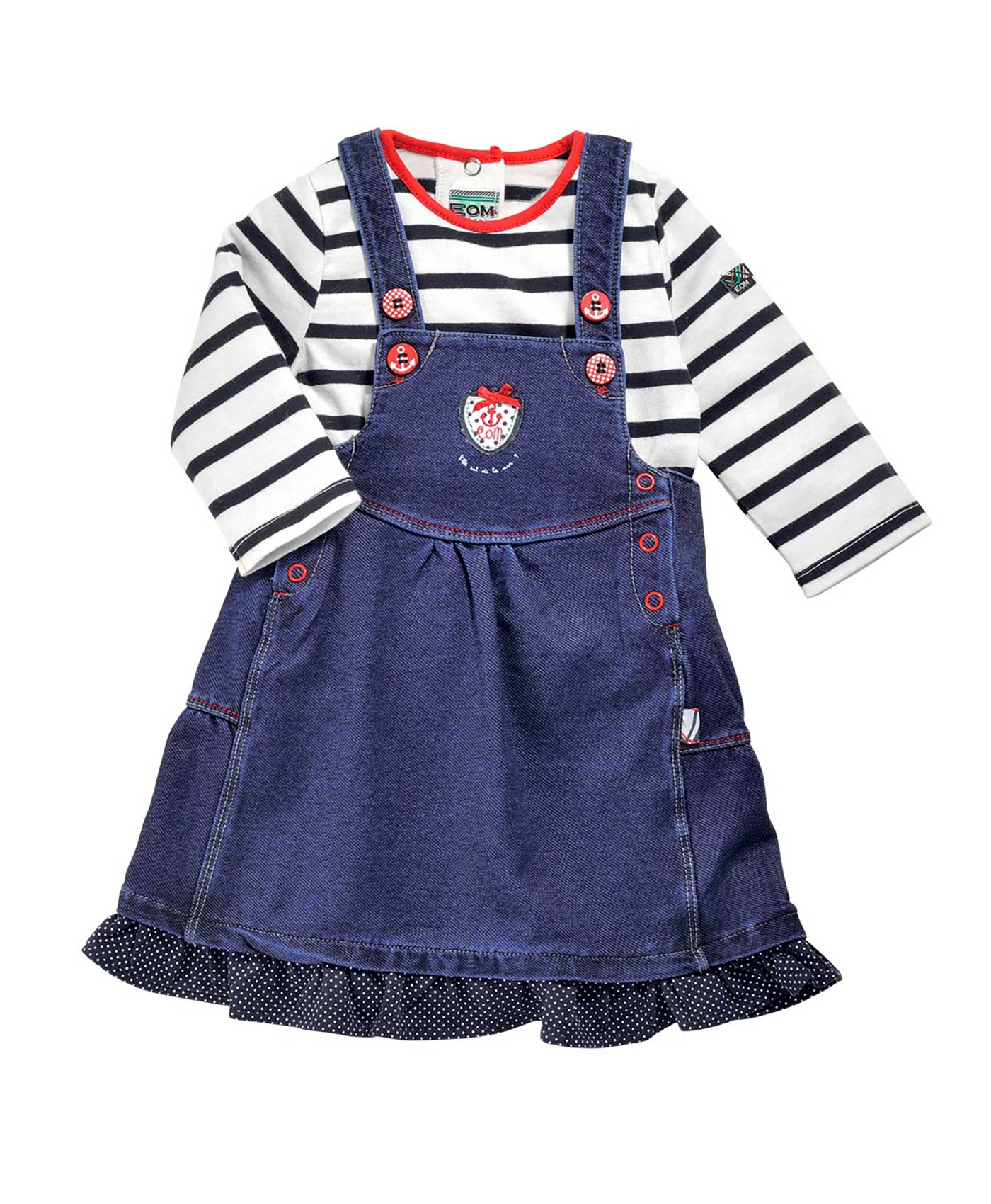 Robe + Tee-shirt bébé fille denim - Mode marine Bébé fille