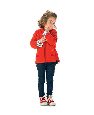 Gilet polaire rouge fille - Mode marine Promotions