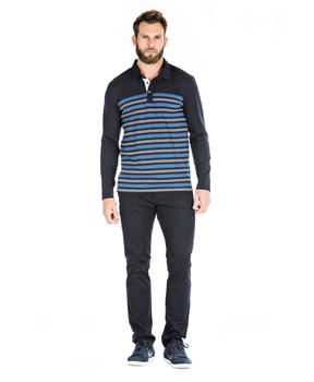 Polo à rayures homme - Mode marine Homme
