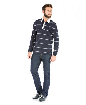Polo rayé manches longues homme_1