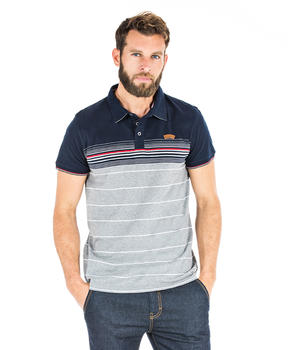 Polo rayé manches courtes homme - Mode marine Homme