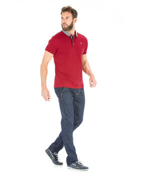 Polo rouge homme_1