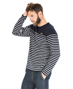 T-shirt à rayures homme - Mode marine Homme