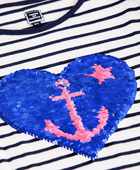 T-shirt à sequins fille - Mode marine Enfant