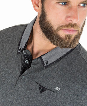 Polo gris chiné homme_1