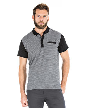 Polo gris manches courtes homme - Mode marine Homme
