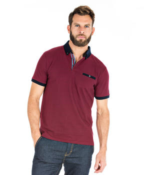 Polo rouge manches courtes homme - Mode marine Homme