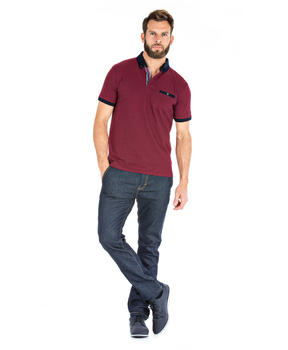 Polo rouge manches courtes homme_1