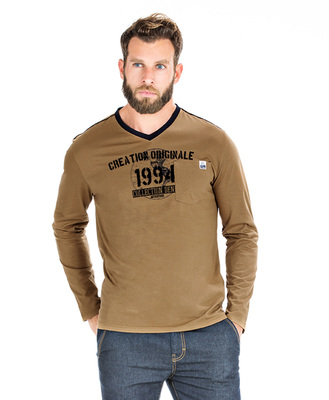 T-shirt camel homme - Mode marine Homme