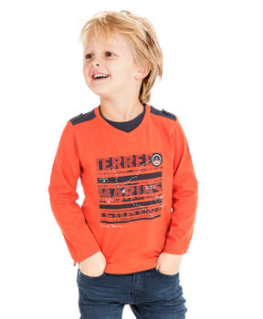 T-shirt orange garçon - Mode marine Enfant