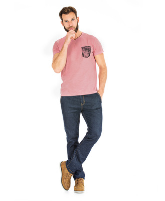 T-shirt rose manches courtes homme_1