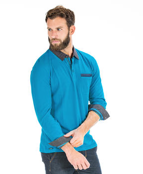 Polo turquoise homme_0