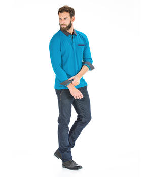 Polo turquoise homme_1