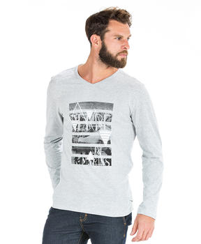 T-shirt gris chiné homme - Mode marine Homme