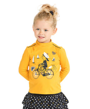 T-shirt col roulé fille - Mode marine Enfant