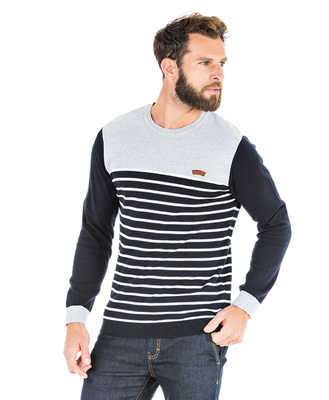 Pull rayé homme - Mode marine Homme