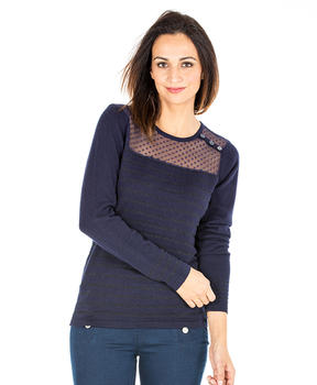 Pull rayé femme - Mode marine Promotions