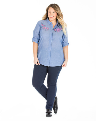 Chemise chambray femme - Mode marine Sélections