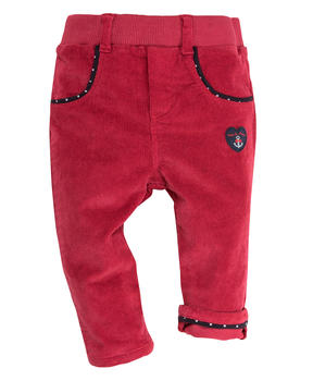 Pantalon rouge bébé fille - Mode marine Promotions