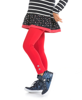 Legging rouge fille - Mode marine Enfant