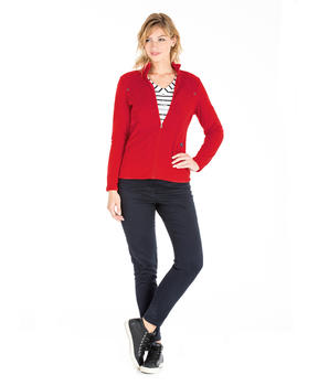 Polaire rouge femme - Mode marine Femme