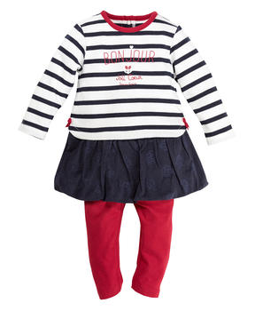 Robe et legging rouge bébé fille - Mode marine Promotions