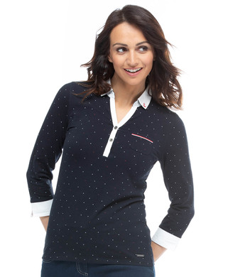 Polo manches 3/4 femme - Mode marine Femme