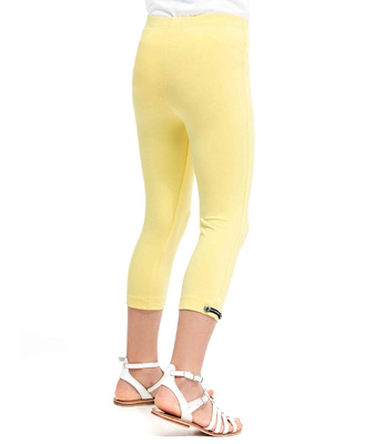 Legging court jaune fille_1