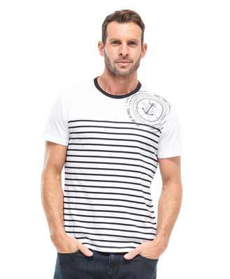Tee-shirt blanc homme - Mode marine Homme