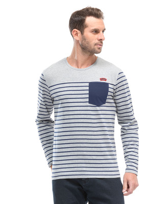 Tee-shirt marinière manches longues homme - Mode marine Homme